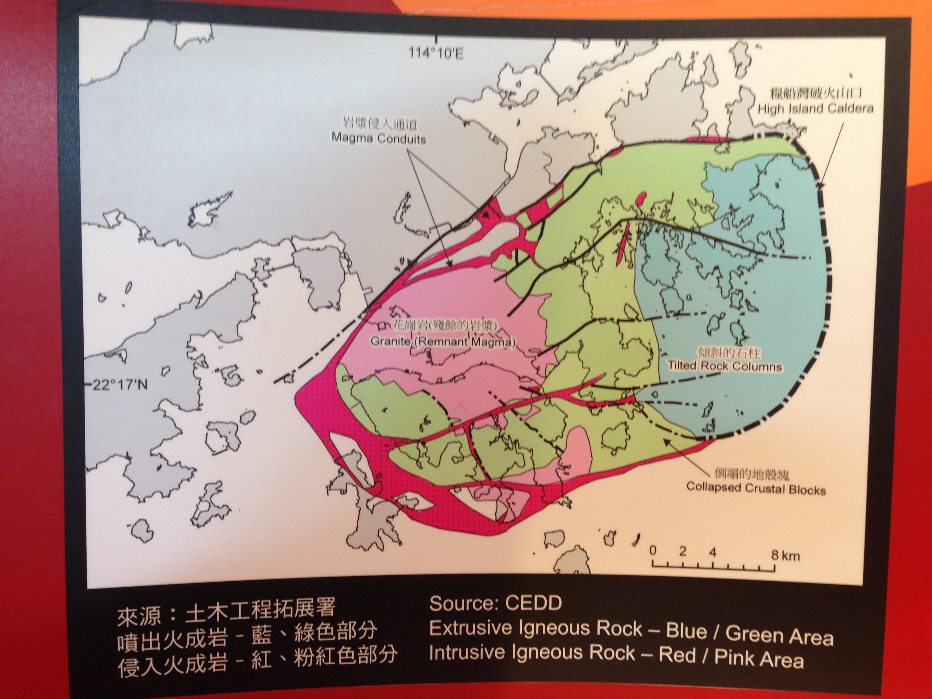 火山口遺跡地圖