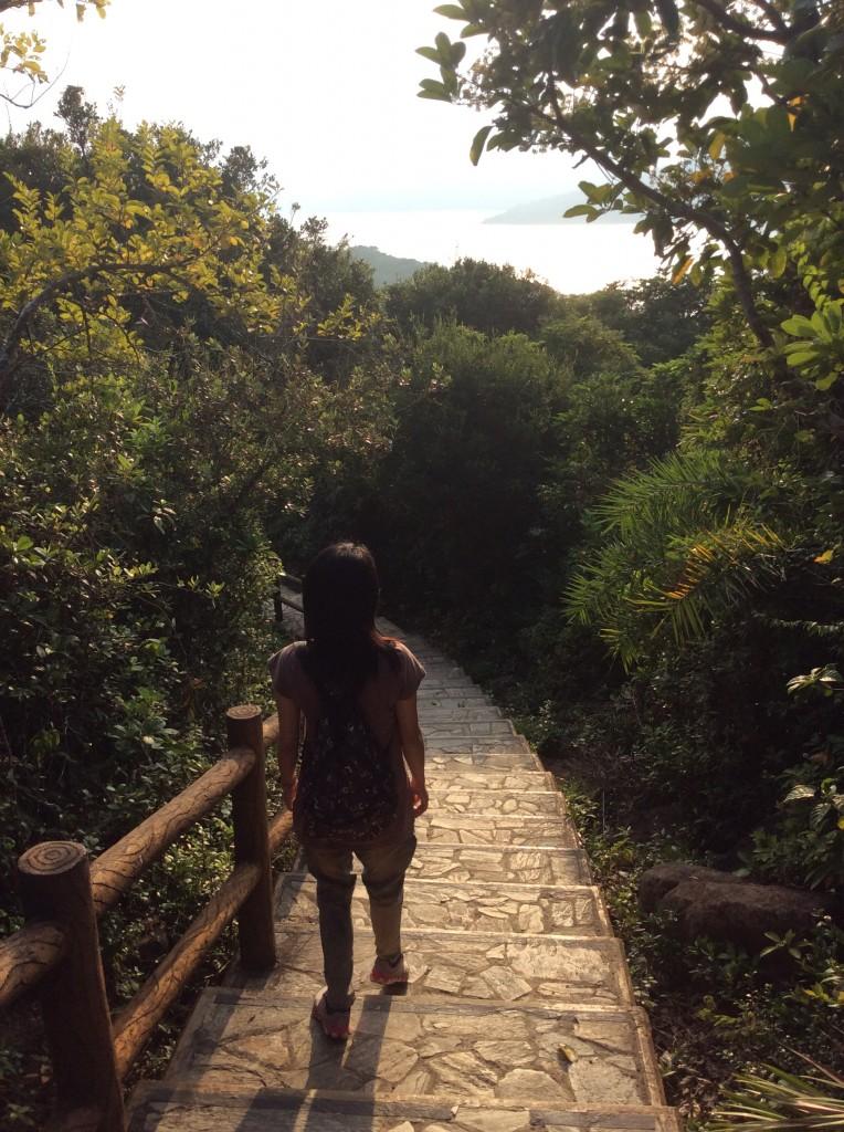 塔門島上有修築得很好的步行徑
