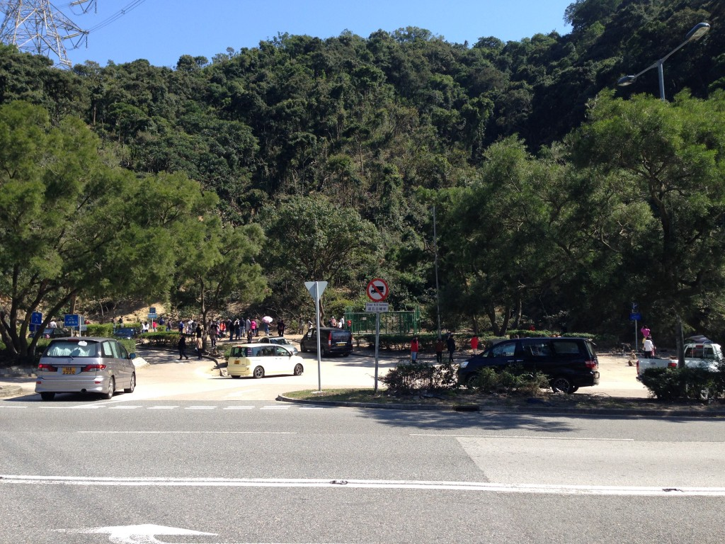 前來金山郊野公園的遊人眾多